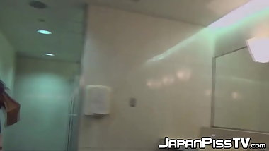 Hot peeing sessions with beautiful Japanese babes in public
