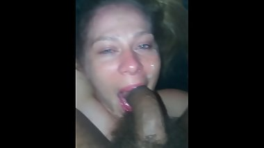 She loves it when i cum on her face