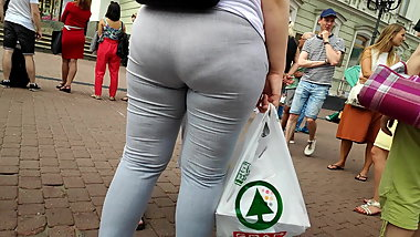 Fat ass milfs in tight white pants