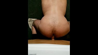 12 inch dildo up straight guys virgin ass!