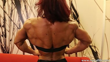 hyper muscular shredded goddess