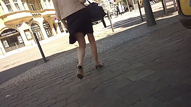 Sexy legs heels and pantyhose