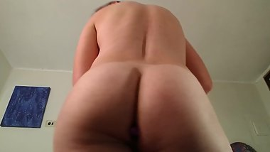 Filling my ass before work.