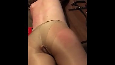 Spanking my former fuckbuddy - if her hubby only knew how dirty she was!
