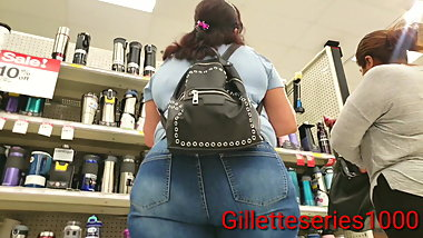 Candid 2 for 1 spanish mature big juicy booties
