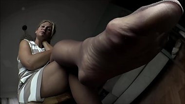 She knows you have a thing for her ripe smelly stockings.