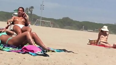 Topples Latinas On The Beach  Sexy Tits and Big Boobs  Public Beach