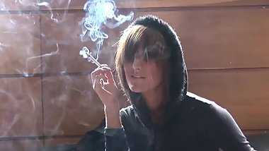 Turned on by her own smoking 2