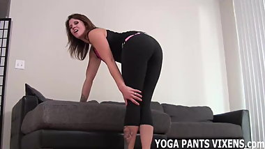 Wearing yoga pants gets me so wet JOI