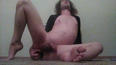 Naked Transgirl Titplay, Footplay, Verbally Whining Masturbating w/Buttplay