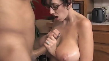 Big Saggy Tits MILF Glasses