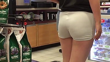Skin Tight Teen Shorts Ass