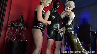 scotlands mistress inka and miss maryln train sissy slut to suck cock