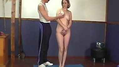 Girl gets stripped punished and spanked by old teacher