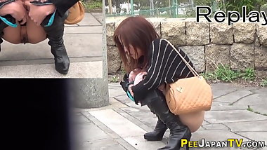 Asians leave pee puddles outdoors