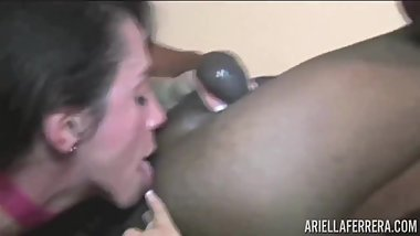 Gorgeous Brunette Licks Balls and Ass