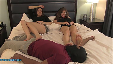 Ivy and Sadie Double Footjob