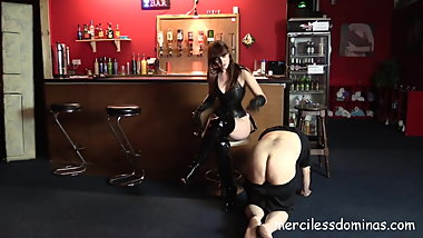 Piggy in Trouble - British Goddess Punishes Dirty Fat Slave