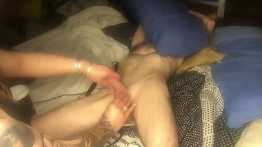 milking a delicious slippery oiled up cock