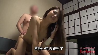 Japnese wife cheats husband go out fucked with a men