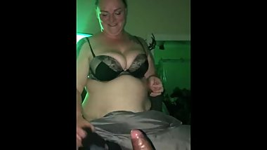 White slut sucking bbc