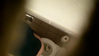 office Wc Spy Cam (Hidden cam cowoker) Isabelle popping 11