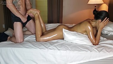Asian Girls Gets Massage and Facial