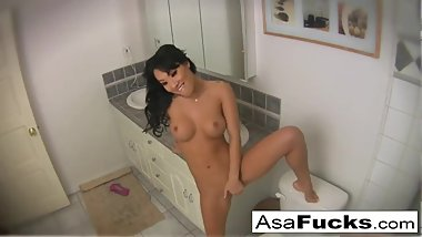 Asa Akira sets up 2 cameras for your pleasure...