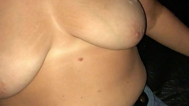 Chubby wife at Adult Theater