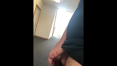 Jerking off in random apartment complex hallway