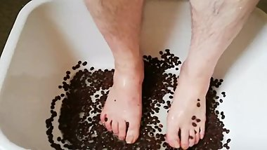 Fun with coffee beans and water