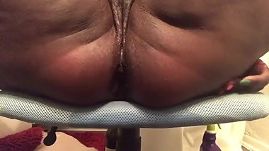 Showing my tight anus after anal play