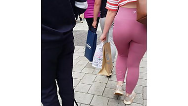 Fat Ass - Tight Pink Gym Leggings