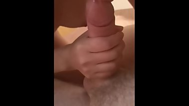 Stepsister shoots cum all over brothers stomach