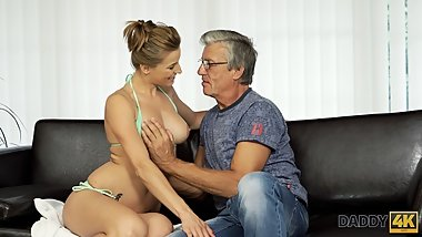 DADDY4K. Nice girl Victoria has a crush on her boyfriend