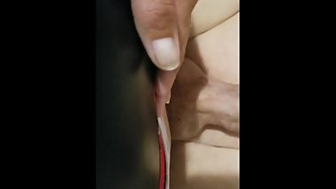Wife fucks husband with a strapon