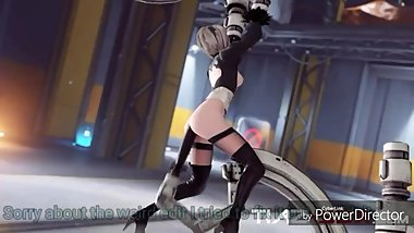 Nier: Automata 2b take anal from dildo mechine