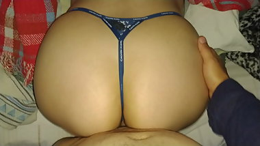 MICRO THONG cK! CUMMING ON SISTER S BIG ASS!