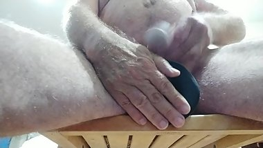 Fucking my ass with huge black dildo while watching pornhub till I cum