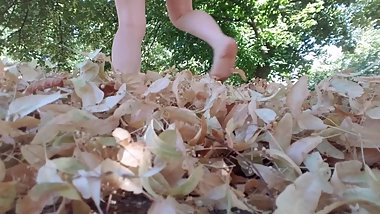 Bare Feet Crush Leaves, ASMR Muse, SFW