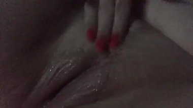 Edging to porn - checking on how wet my pussy is getting