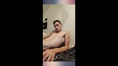 Derek Mills gets his big str8 cock out high on meth and jerking