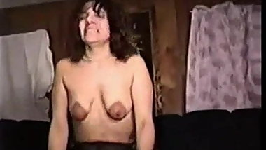 Dark nippled slut wife takes a bbc creampie