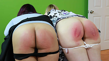 Two Paddled Criminals - (Spanking)