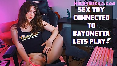 RILEY CONNECTS SEX TOY TO VIDEO GAME: BAYONETTA TELEDILDONIC LETS PLAY
