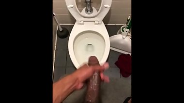 Jacking off my bbc before work