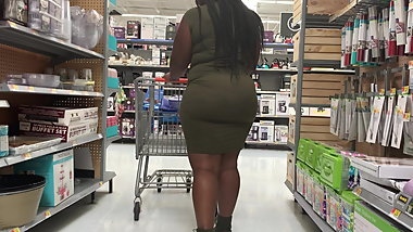 Phat Azz in Olive Green Dress