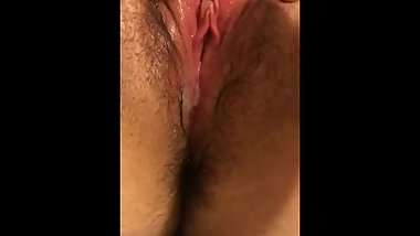 toy play quicky dripping wet pussy