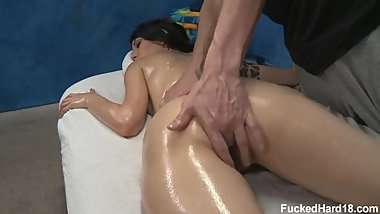 Callie Cyprus gets fucked after a massage