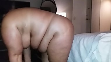 Bouncing my fat ass on his cock